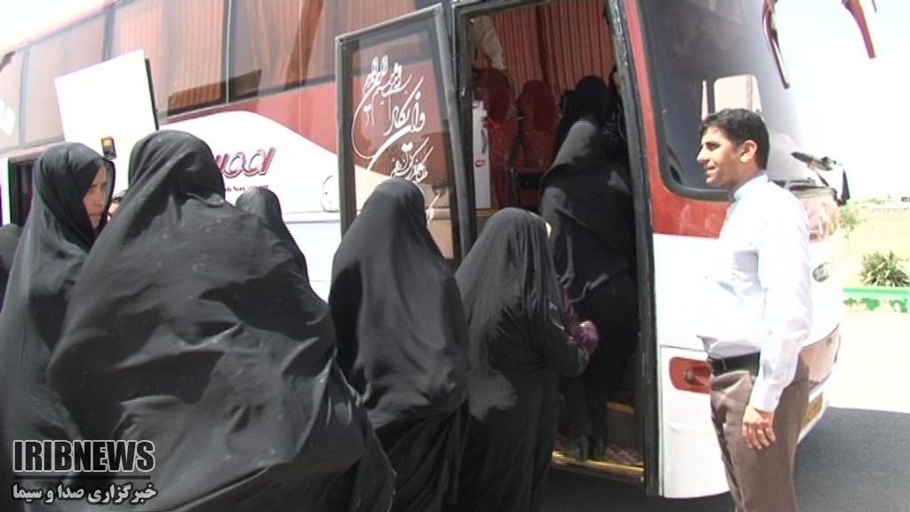 اعزام 40 نفر از بانوان و ایتام مود به مشهد