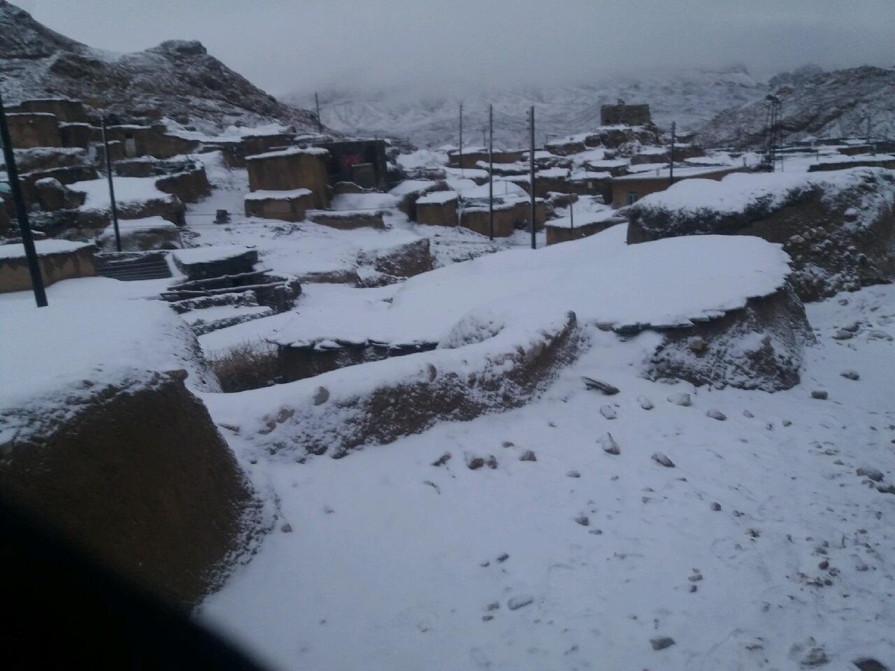 بیشترین ارتفاع برف در کریموی سرایان با ۴۰سانتی متر