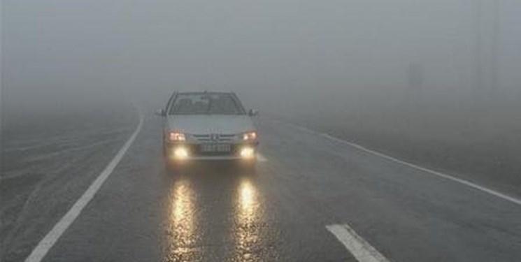 لغزندگی جادهها و مه غلیظ در برخی از جادههای خراسان جنوبی