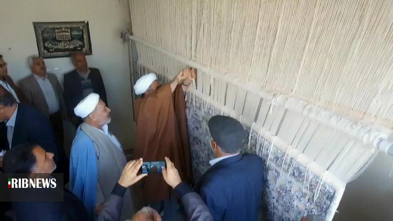 اهداء فرش بانوان طبس به عتبات عالیات