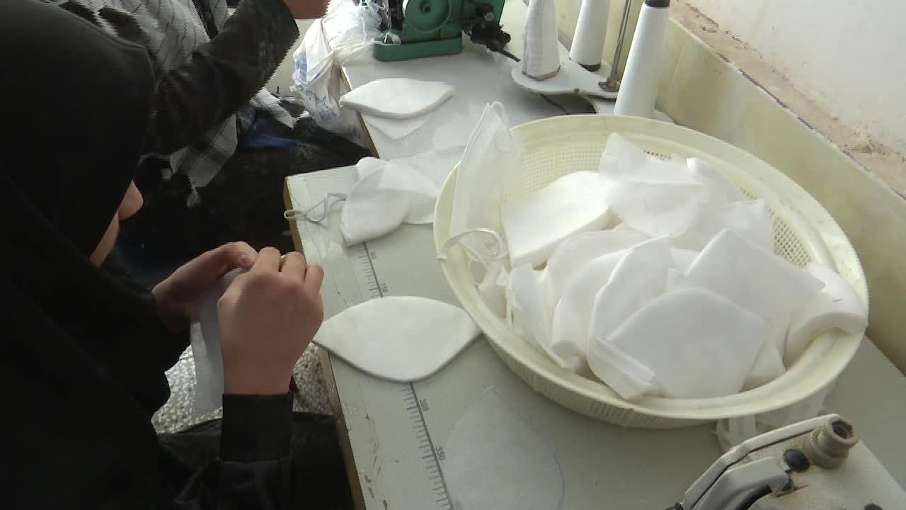 تولید ماسک در کارگاههای خیاطی اقتصاد مقاومتی