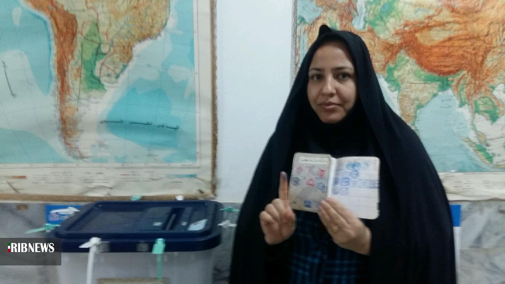 ازدحام جمعیت در شعب اخذ رای خراسان جنوبی