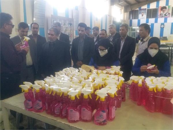 شرکت تعاونیهای قاین پیش قدم درتوزیع رایگان مواد ضدعفونی کننده