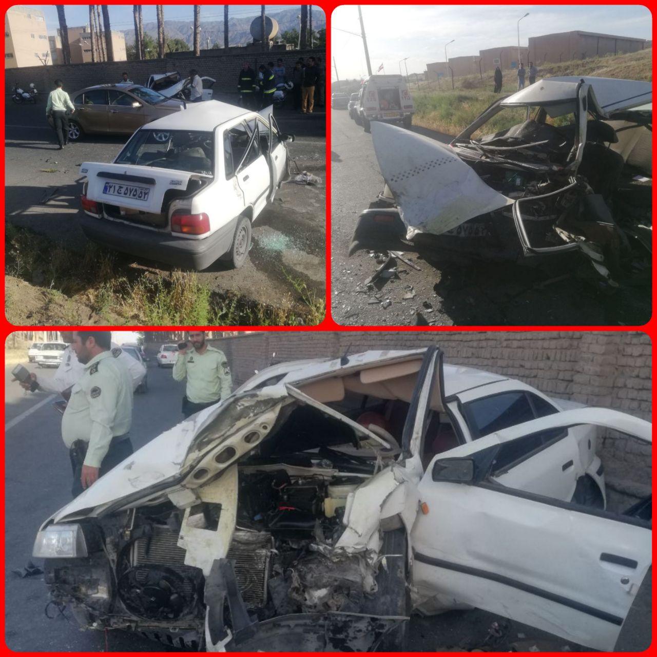 یک کشته در برخورد دو خودرو در بیرجند