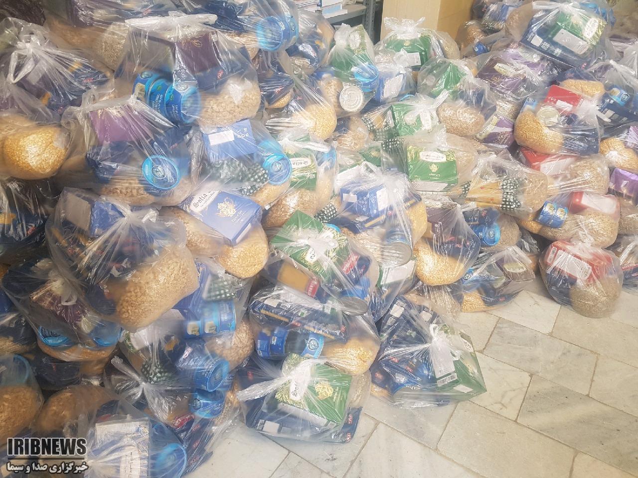 توزیع 830 سبد غذایی بین نیازمندان زیرکوه