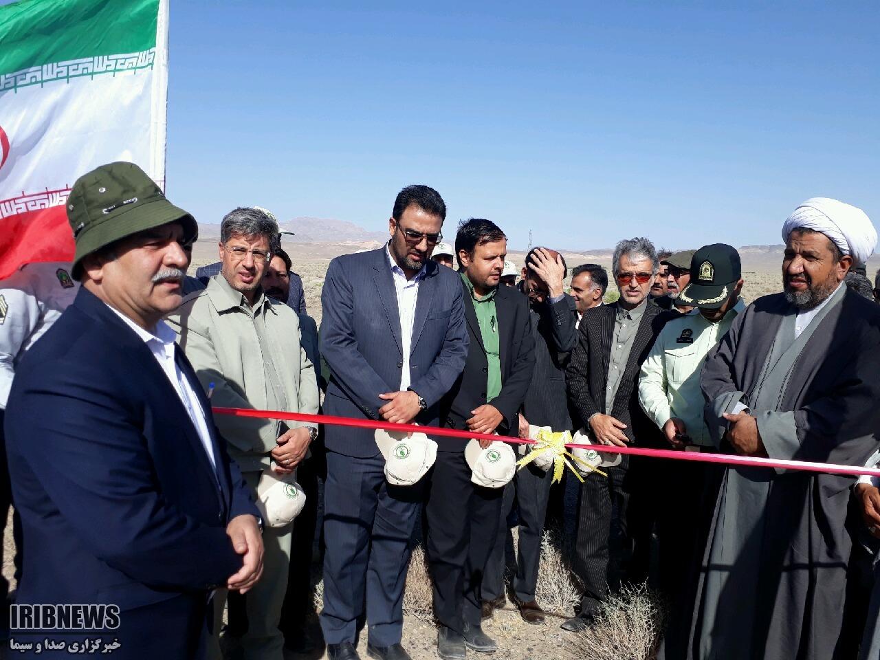 افتتاح 145هکتار طرح نهال کاری در شهرستان سربیشه