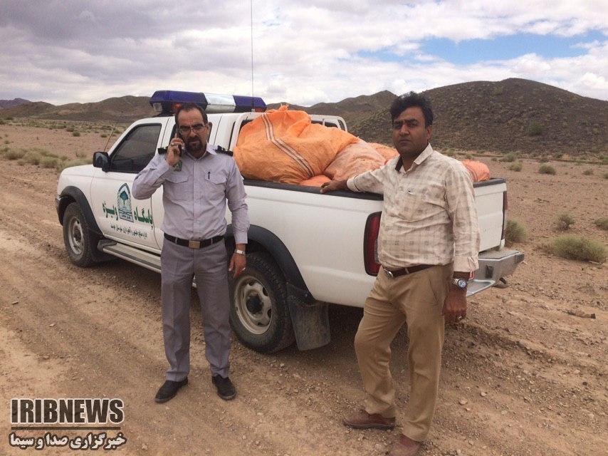 توقیف ۱۲۰ کیلوگرم کلپوره در خوسف