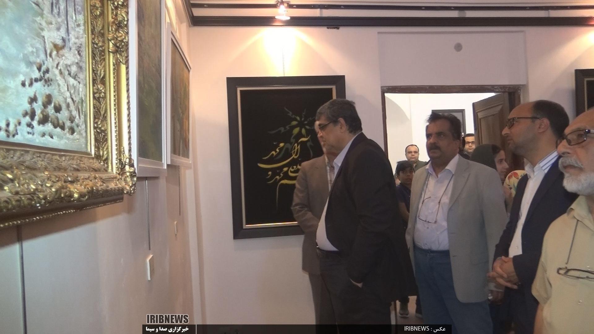 برپایی نمایشگاه آثار هنری پیشکسوتان شهرستان بیرجند