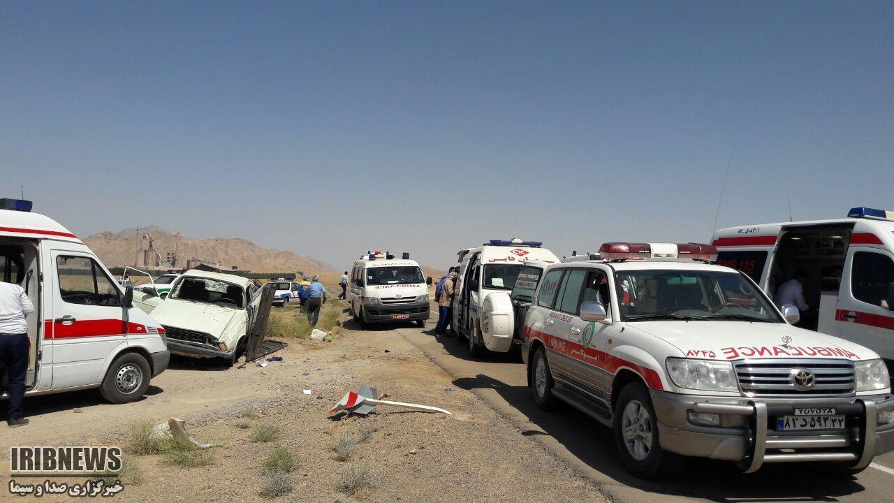 زخمی شدن 20 کارگر در دو حادثه رانندگی