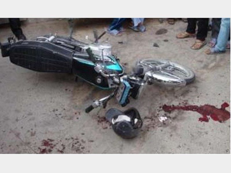 جان باختن راکب موتور سیکلت در حادثه رانندگی