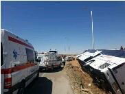 11 مصدوم در حادثه اتوبوس محور بردسکن _ بجستان