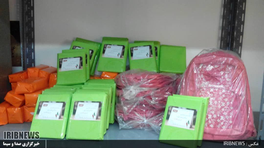 توزیع 105 بسته نوشت افزار بین دانش آموزان نیازمند