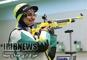 رکورد شکنی نجمه خدمتی در هفته دوم لیگ برتر تیراندازی بانوان کشور