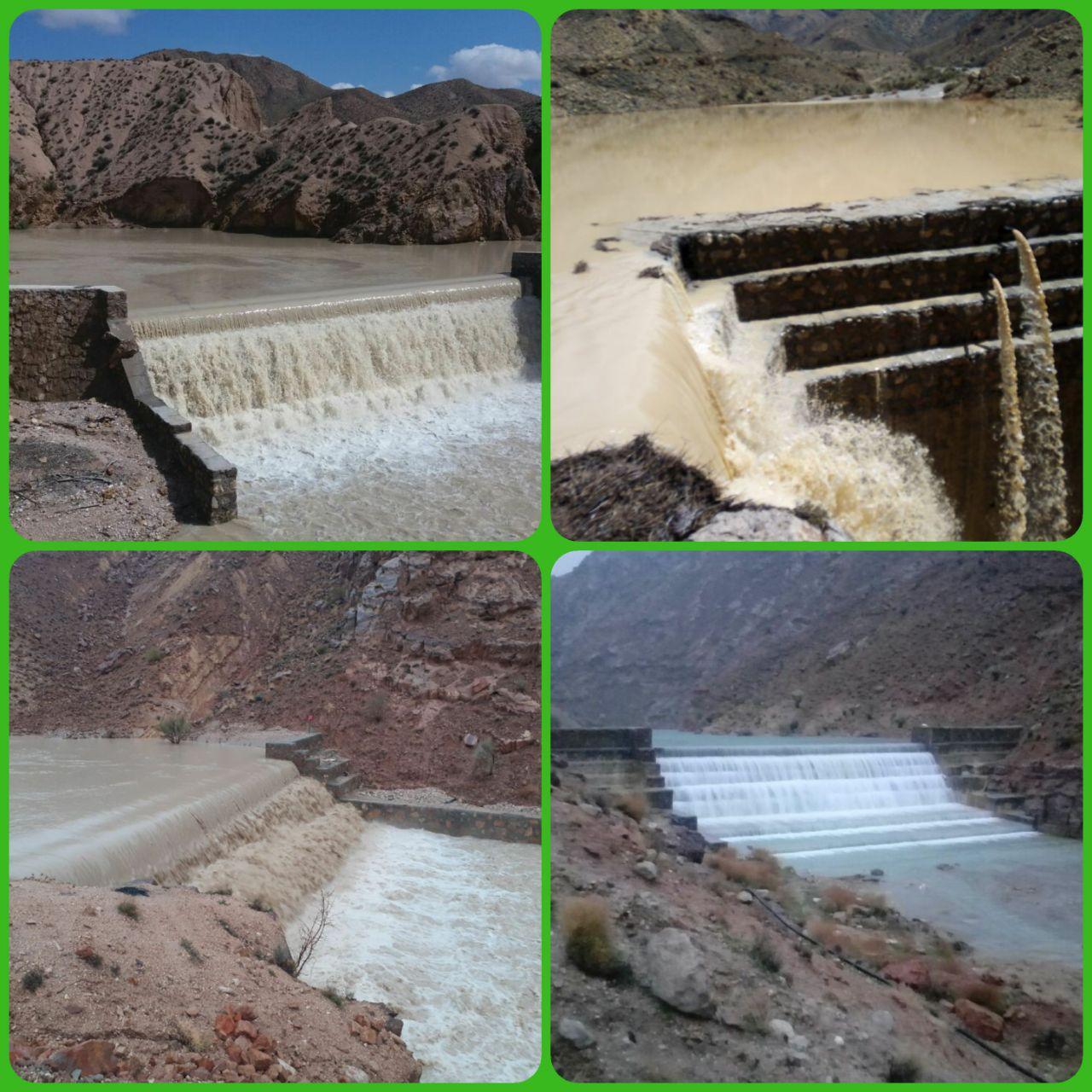 ذخیره سازی بیش از 4 میلیون مترمکعب آب در سازه های آبخیزداری طبس