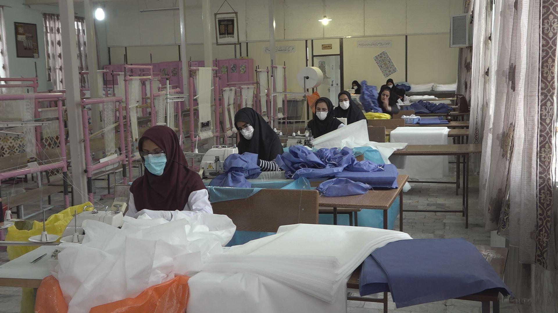 تولید ۲۳ هزار ملزومات بهداشتی در ۴ هنرستان خراسان جنوبی