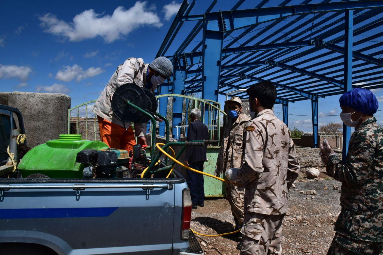زمایش دفاع بیولوژیک شهدای سلامت در شهرستان زیرکوه