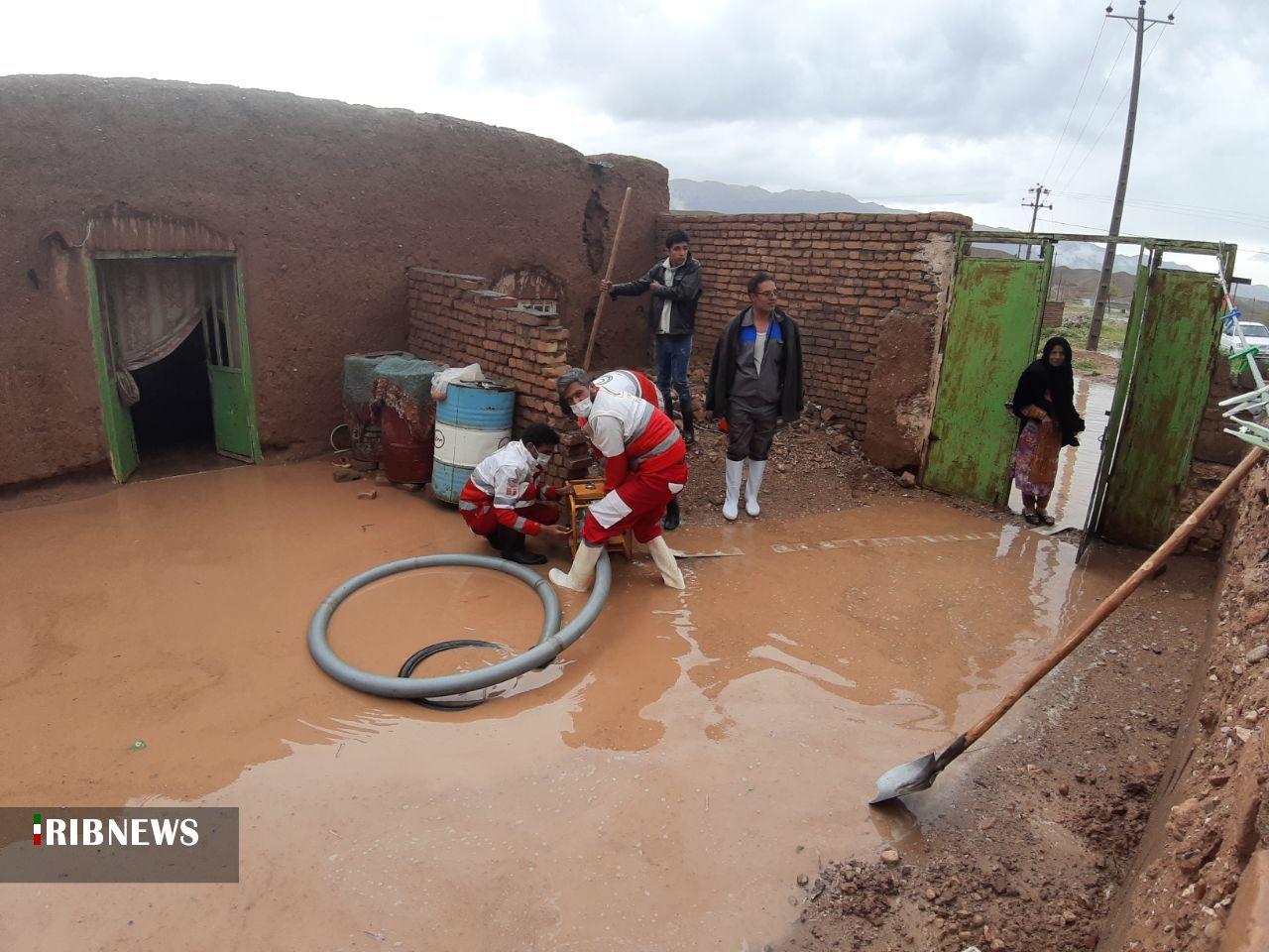 آماده باش ۱۹۶ نیروی امدادی هلال احمر برای امدادرسانی به حوادث سیلاب