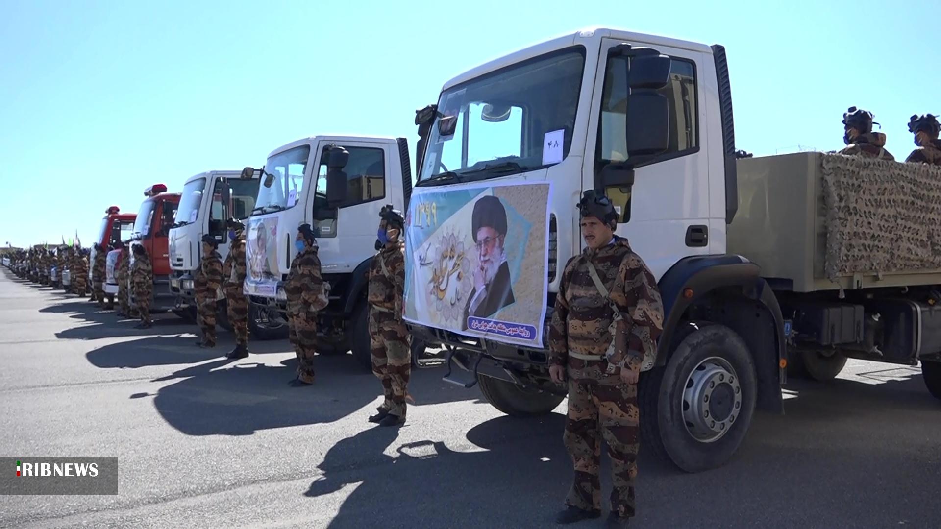 رژه نیروهای مسلح با عنوان رژه خدمت در خراسان جنوبی