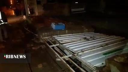 خسارت رگبار، تگرگ و طوفان به برخی نقاط خراسان جنوبی
