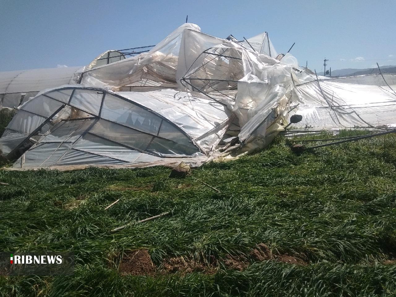 خسارت طوفان و تگرگ به برخی نقاط خراسان جنوبی