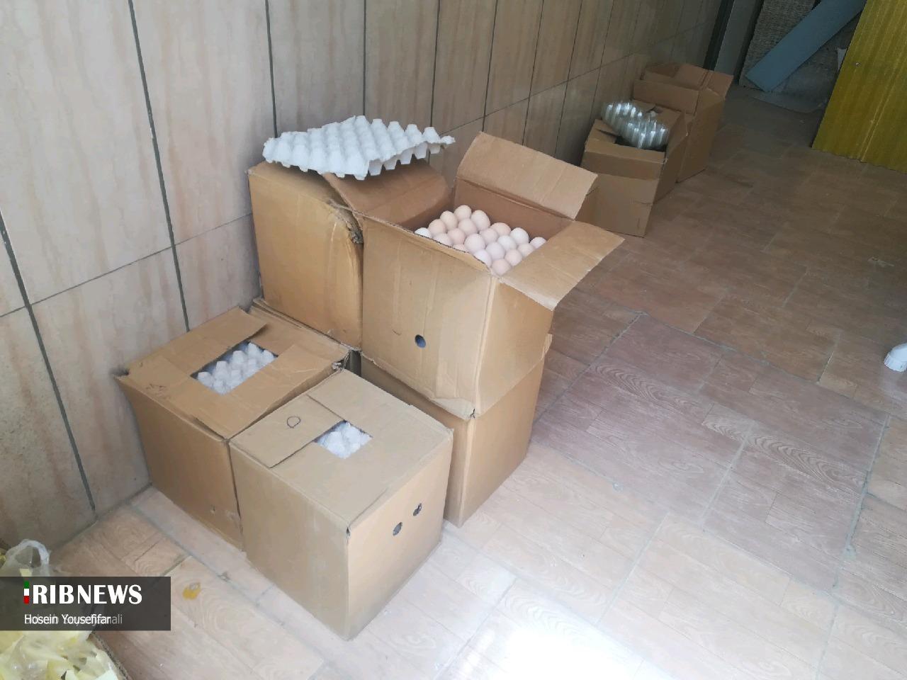 معدوم کردن بیش از ۱۰۰ کیلوگرم تخم مرغ غیرقابل مصرف در بیرجند