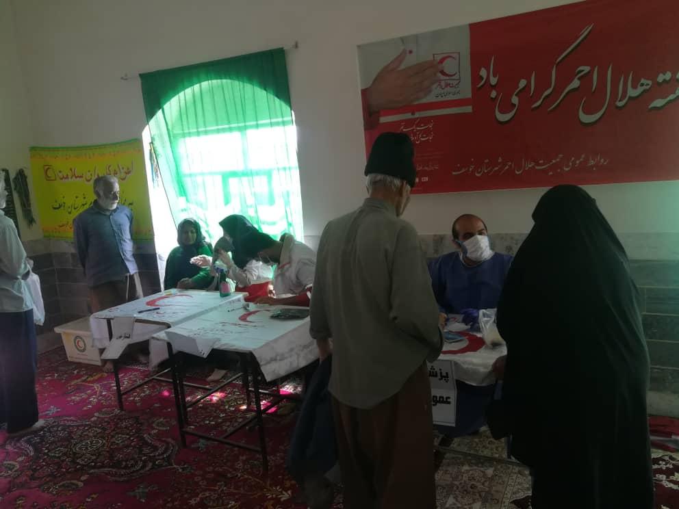ویزیت رایگان ۳۰ بیمار نیازمند در روستای کلاته باغ خوسف