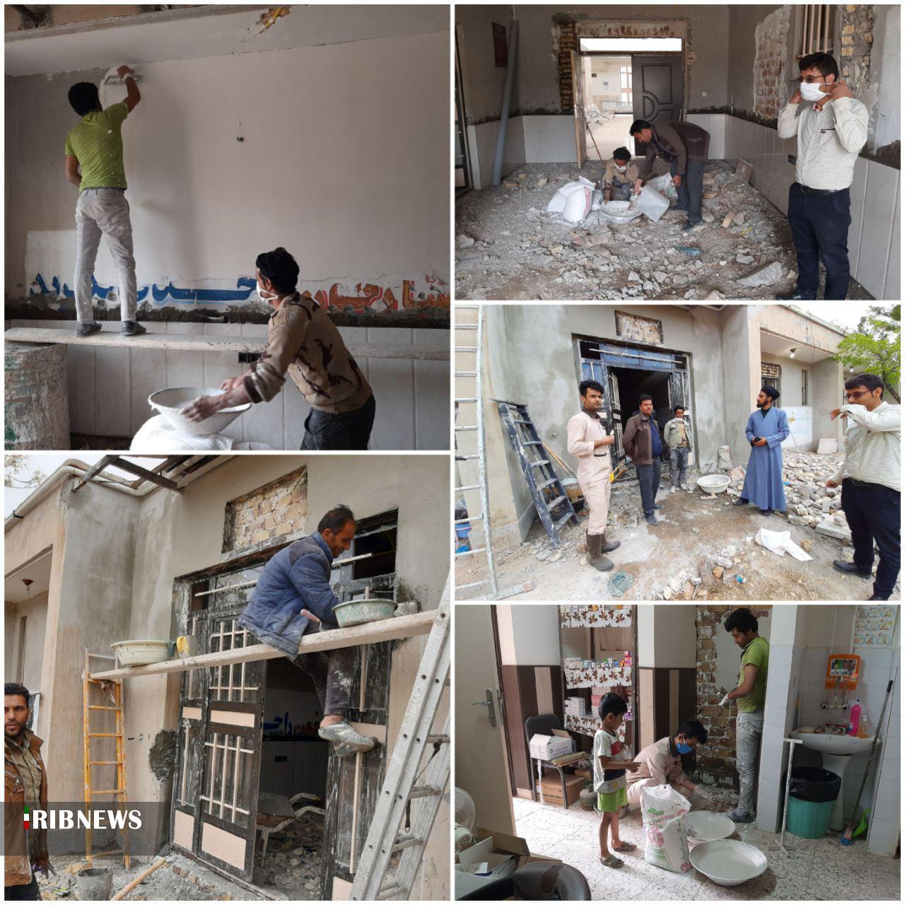 ساخت اتاق احیا در مرکز بهداشت دهستان کرغند قاین