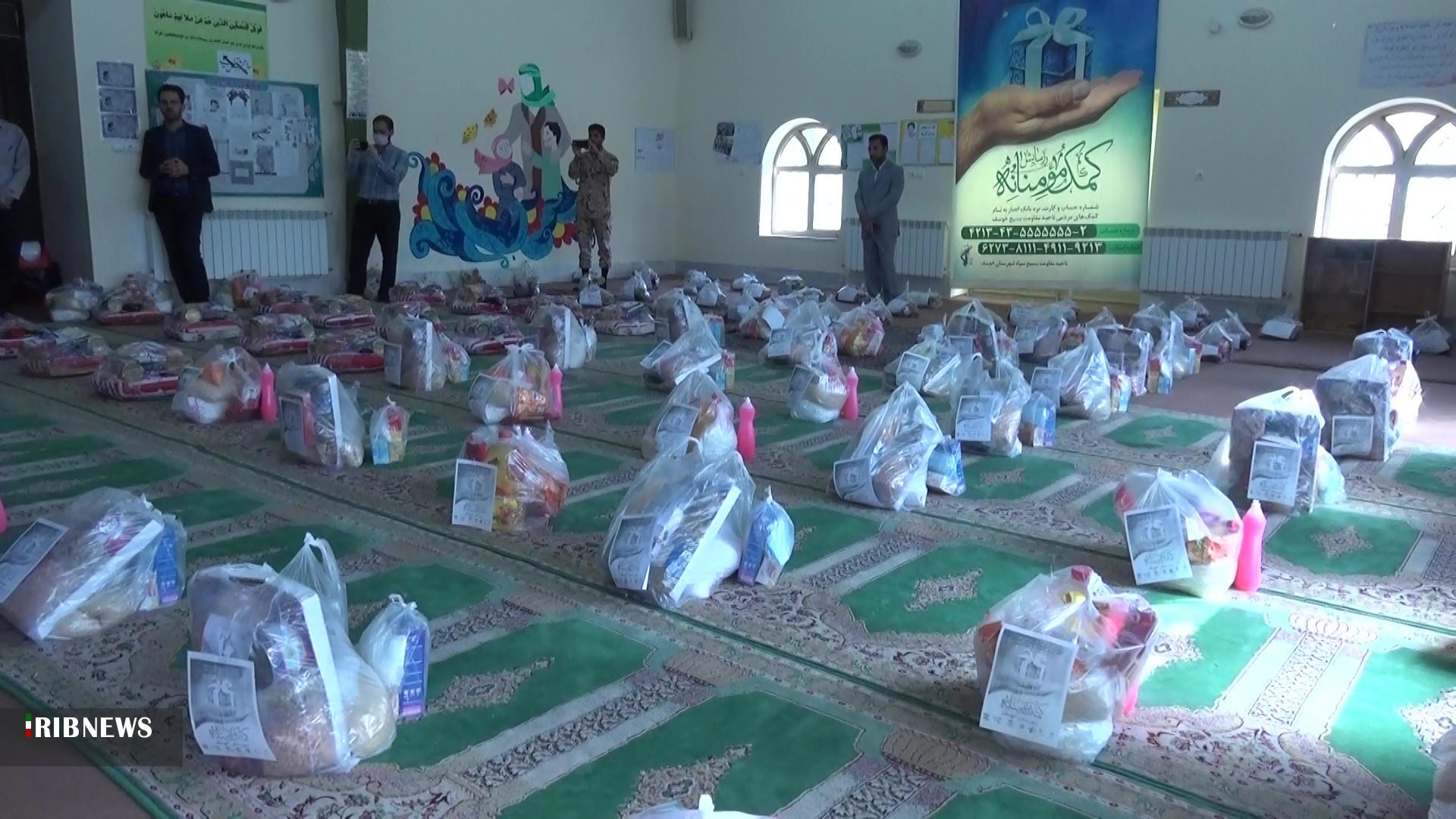 رزمایش کمک مومنانه دانش آموزی در شهرستان خوسف