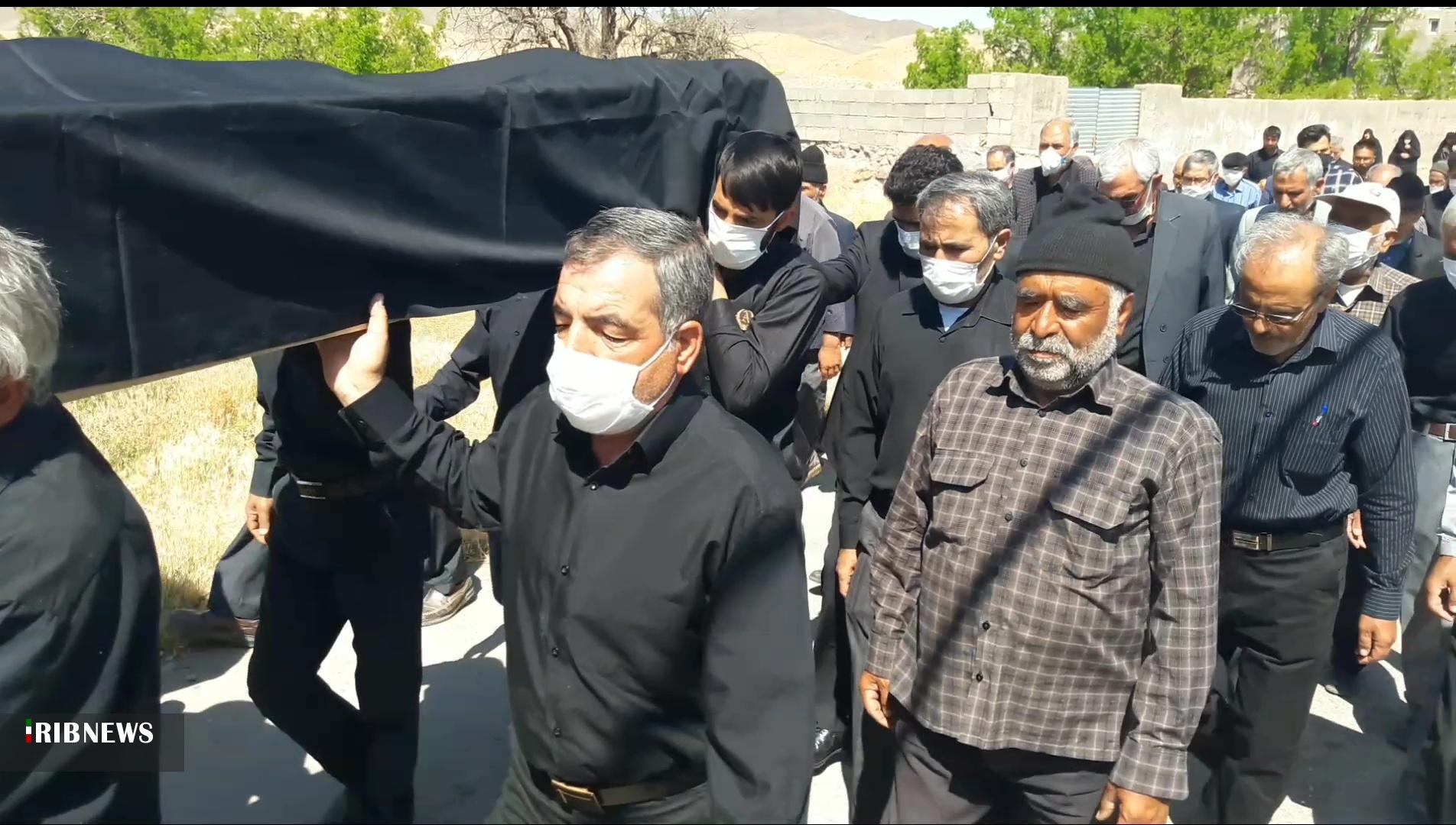 تشییع و خاکسپاری مادر شهید افشین در سربیشه