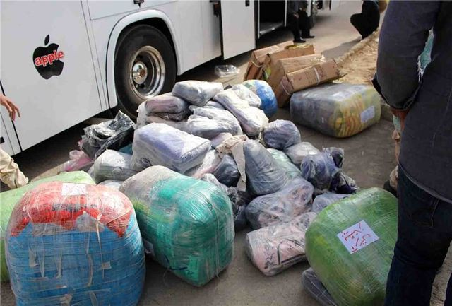 توقیف اتوبوس مسافربری با ۴۰۰ میلیون ریال کالای قاچاق