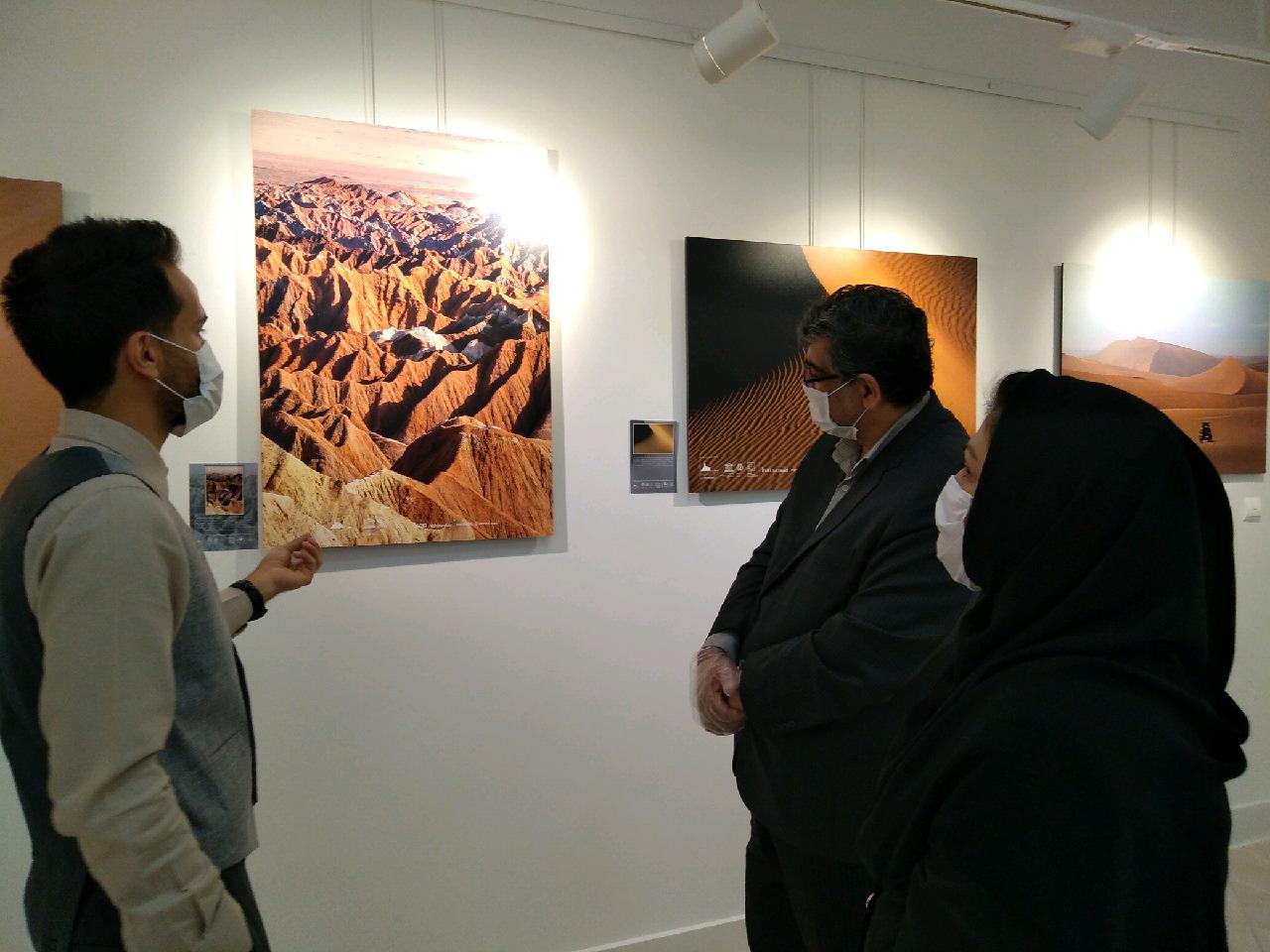گشایش نمایشگاه عکس بیابان لوت در بیرجند