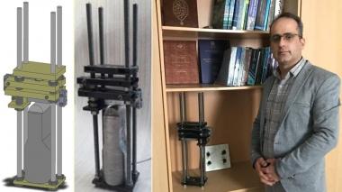 اختراع دستگاه کالیبراسیون چکش آزمایش خمش ۳ نقطهای در دانشگاه بیرجند