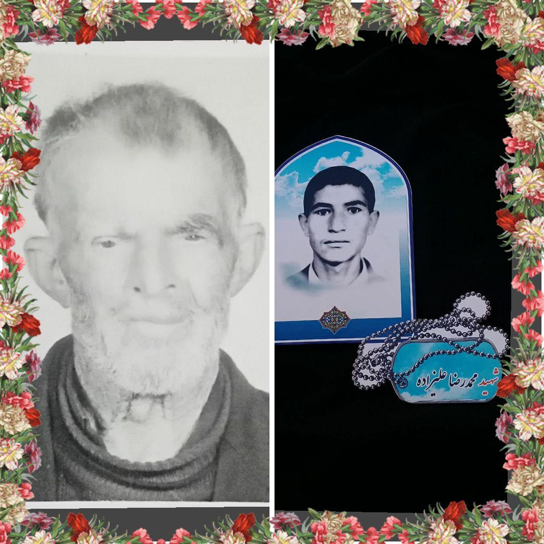 خاکسپاری پدر شهید علیزاده در بشرویه